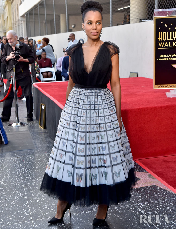 Kerry Washington Mary Katrantzou - For Hollywood Walk Of Fame
