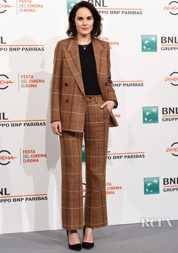Michelle Dockery In Acne Studios Downton Abbey' During Rome Film Festival photocall