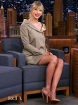 Taylor Swift Rocks A Jekyll & Hyde Dress On The Tonight Show Starring Jimmy Fallon