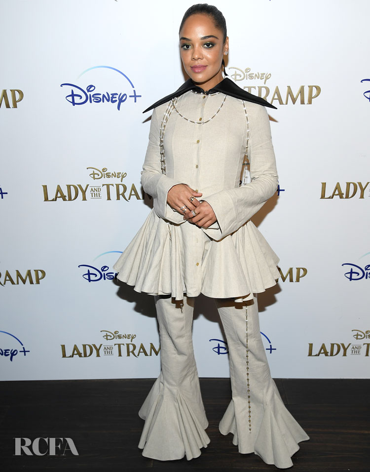 Tessa Thompson's New Direction In Loewe For The 'Lady And A Tramp' New York Screening