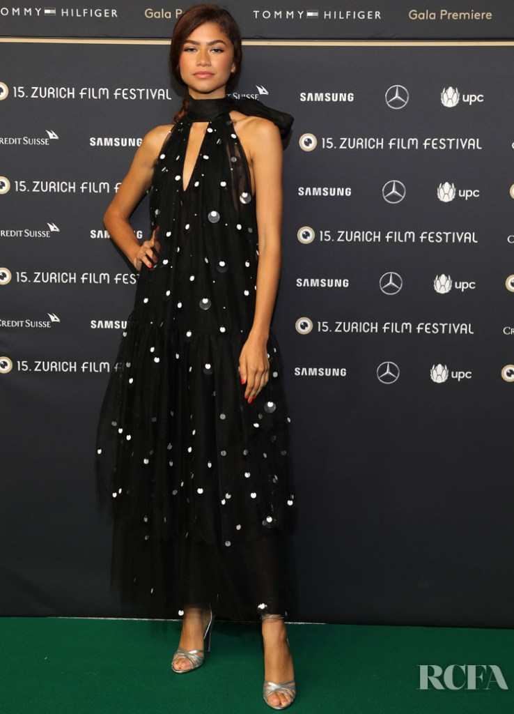 Zendaya Coleman Goes Crazy For Polka Dots Once Again For The 'Le Mans '66' Zurich Film Festival Premiere