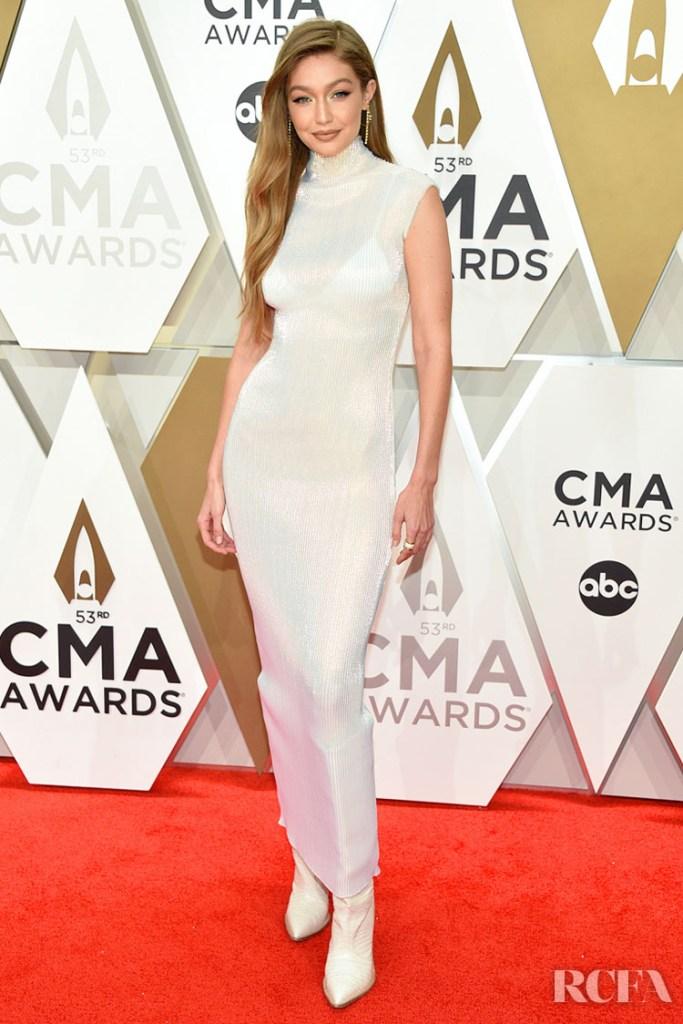 Gigi Hadid in Helmut Lang - 2019 CMA Awards