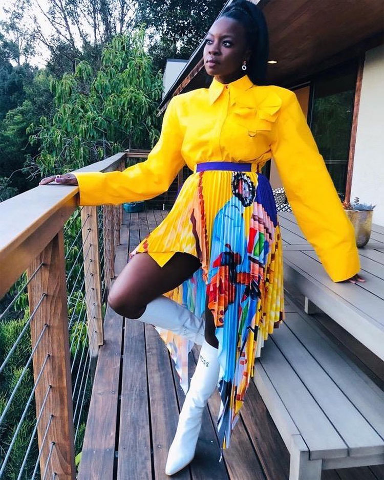 Danai Gurira Served Up All The Colours Of The Rainbow For The 'Harriet' LA Premiere
