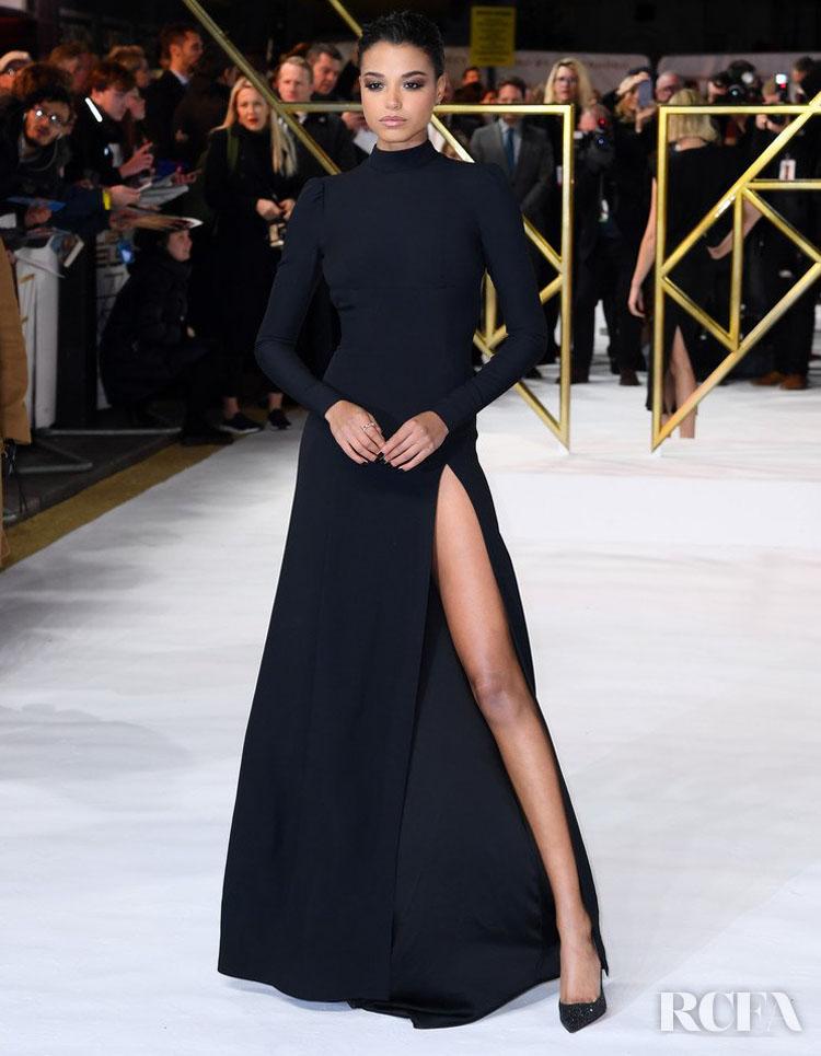 Ella Balinska Wore Custom Prada To The 'Charlie's Angels' London Premiere