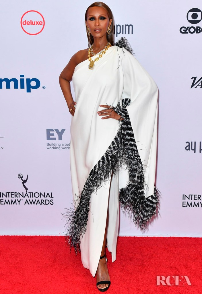 Iman Was Giving Us Goddess Vibes At The 2019 International Emmy Awards