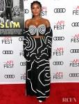 Janelle Monáe's Black And White Graphics For The 'Queen & Slim' LA Premiere
