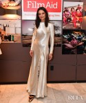 Katie Holmes Mixes Satin With Zebra Print For The FilmAid's 'Power of Film' New York Screening