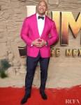 Dwayne Johnson Was Pretty In Pink Ralph Lauren For The 'Jumanji: The Next Level' London Premiere