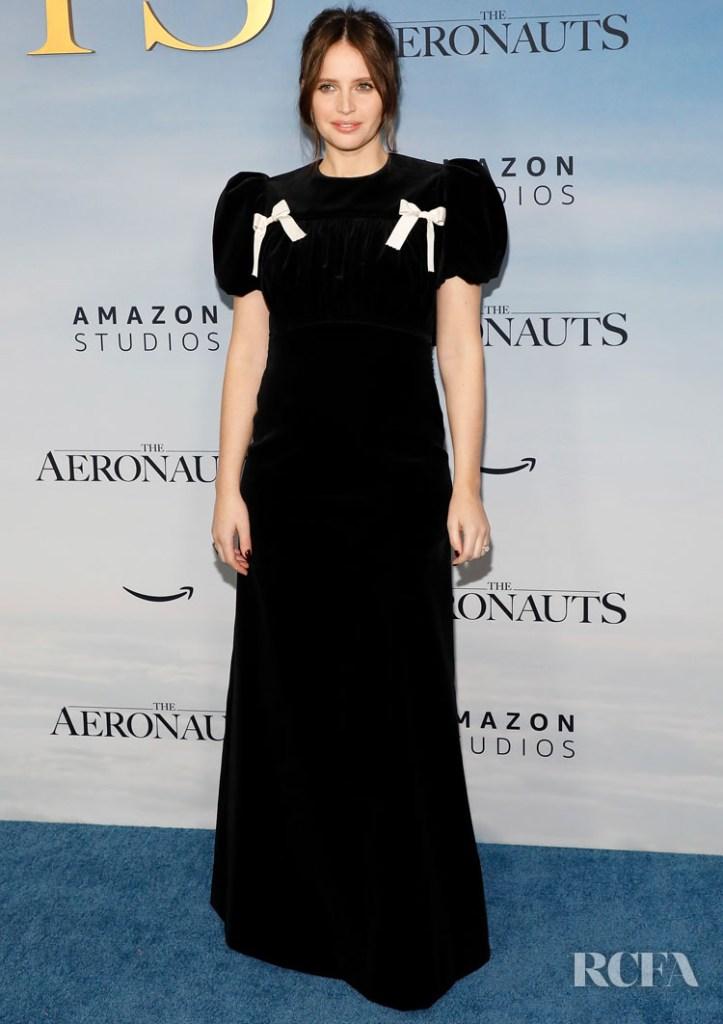 Felicity Jones Wore The Vampire's Wife To 'The Aeronauts' New York Premiere