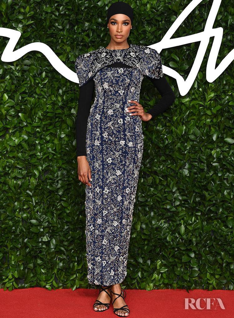Ikram Abdi Omar In Ferona - The Fashion Awards 2019