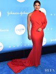 Priyanka Chopra Jonas Was Radiant In Custom Salvatore Ferragamo At The 2019 UNICEF Snowflake Ball