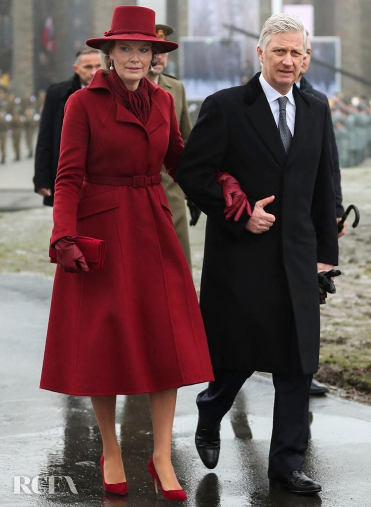 Queen Mathilde of Belgium In Dior Haute Couture -  Remembrance Ceremony