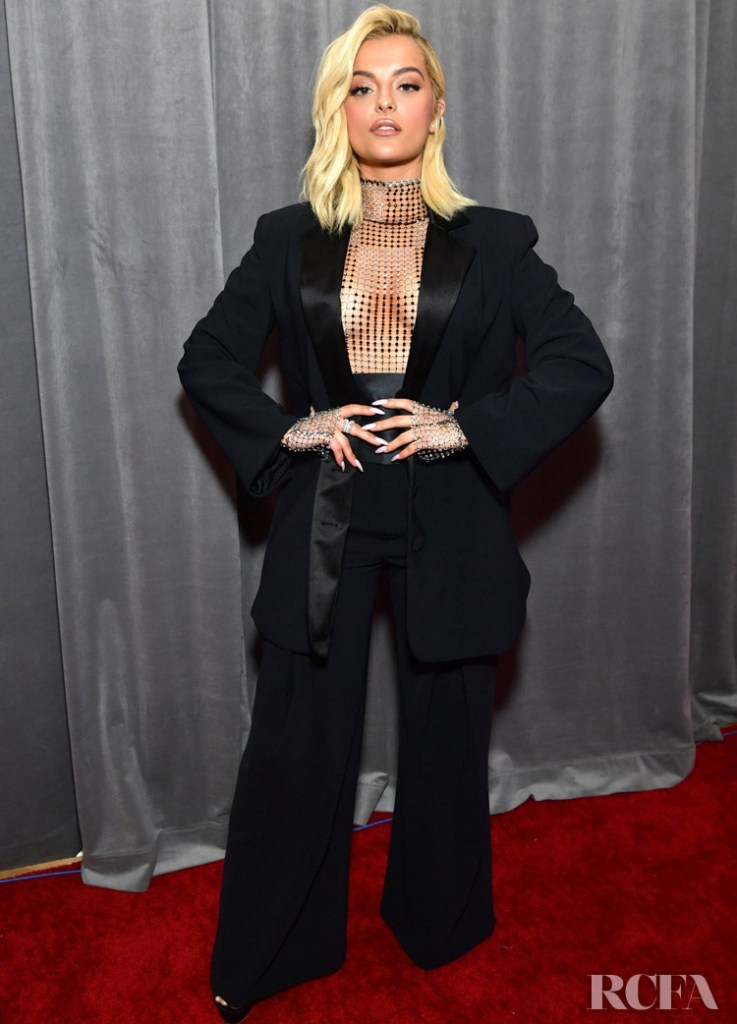 Bebe Rexha In Custom Christian Cowan - 2020 Grammy Awards
