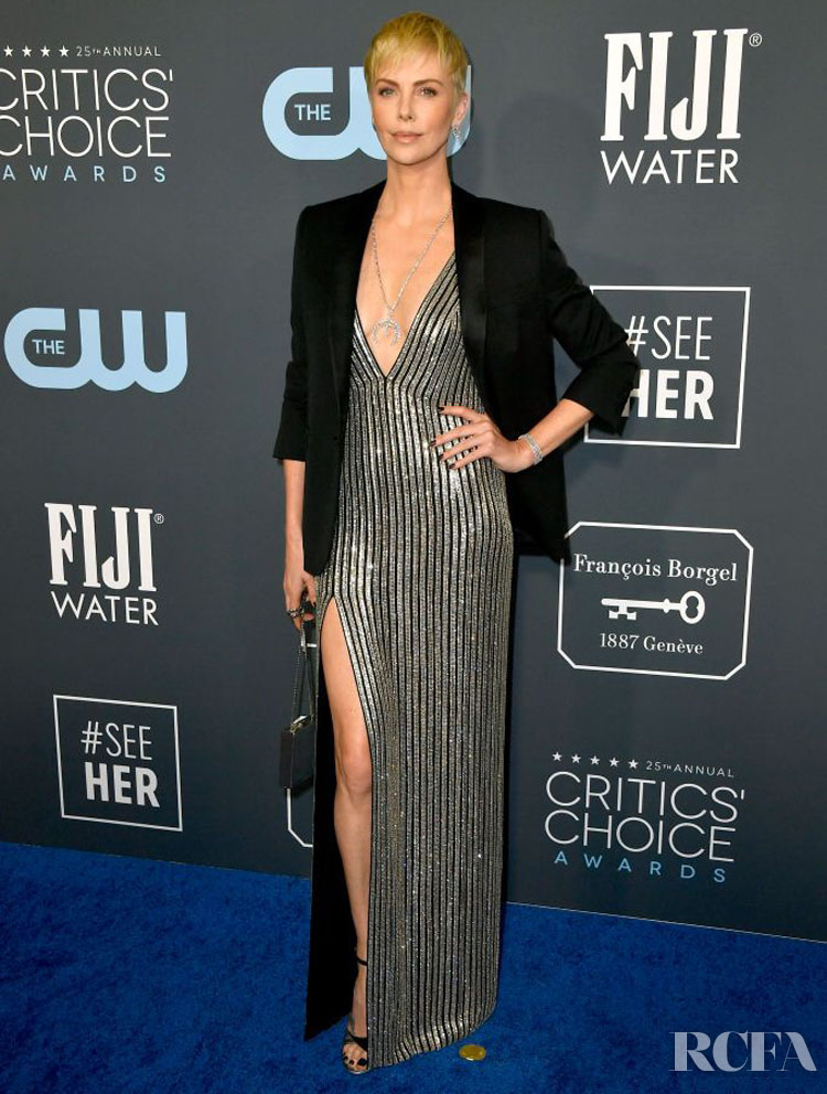 Charlize Theron In Celine - 2020 Critics' Choice Awards
