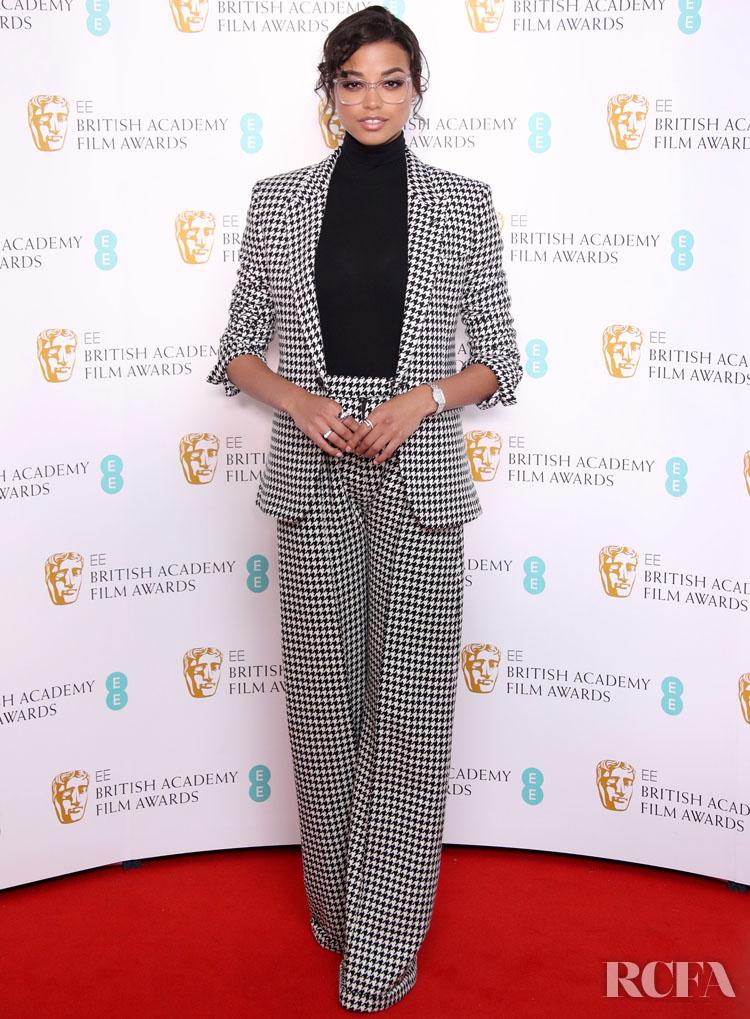 Ella Balinska Wore Joshua Kane To The BAFTA Film Awards Nominations Announcement 2020
