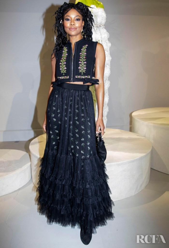 Gabrielle Union Front Row @ Giambattista Valli Spring 2020 Haute Couture