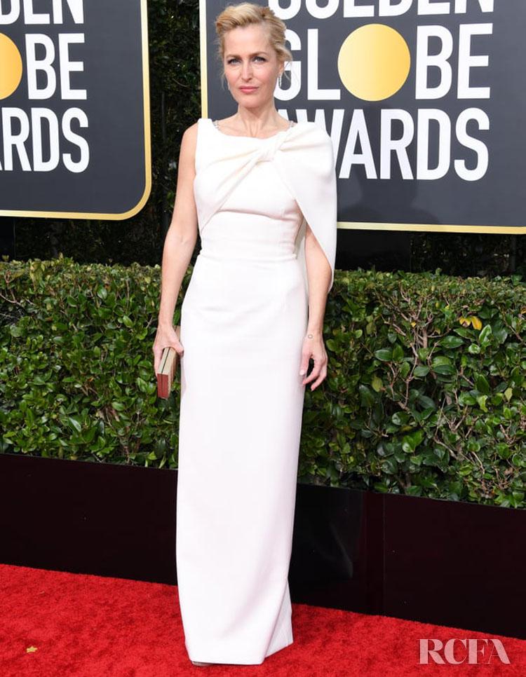 Gillian Anderson in Safiyaa - 2020 Golden Globe Awards