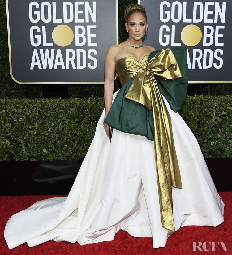 Jennifer Lopez In Valentino Haute Couture - 2020 Golden Globe Awards