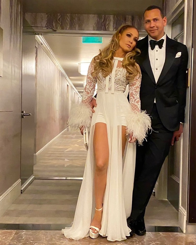 Jennifer Lopez Wore Zuhair Murad To The CAA Golden Globes After Party