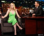 Rachel Brosnahan Wore Alex Perry On Jimmy Kimmel Live!