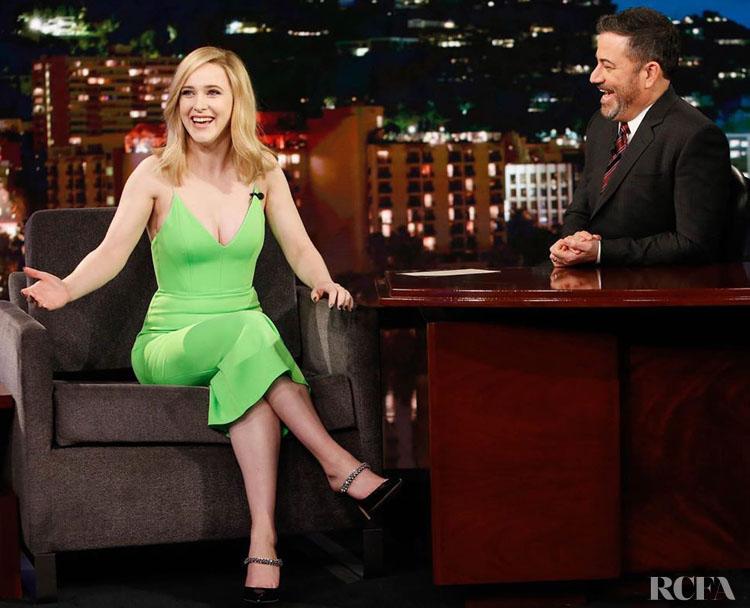 Rachel Brosnahan Wore Alex Perry On Jimmy Kimmel Live