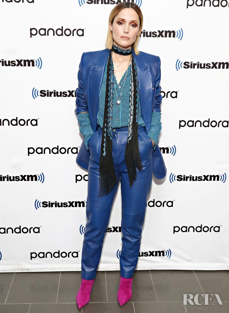 Rose Byrne Wore Magda Butrym On Sirius XM Radio