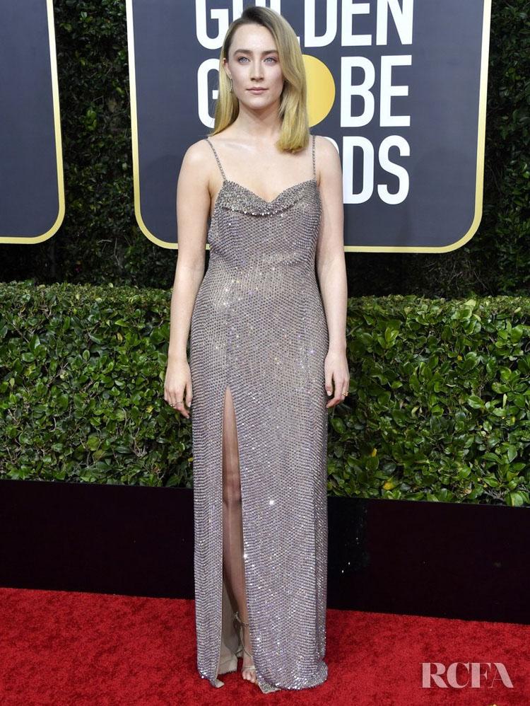 Saoirse Ronan In Celine - 2020 Golden Globe Awards