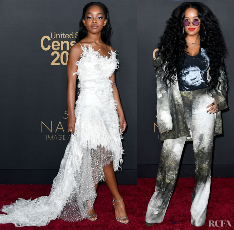 Marsai Martin and H.E.R. - 2020 NAACP Image Awards Red Carpet Roundup