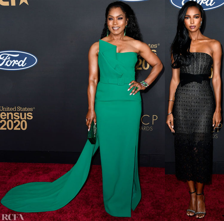 Angela Bassett and Jasmine Tookes - 2020 NAACP Image Awards Red Carpet Roundup