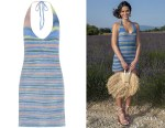 Bruna Marquezine's Jacquemus Striped Halterneck Knit Mini Dress