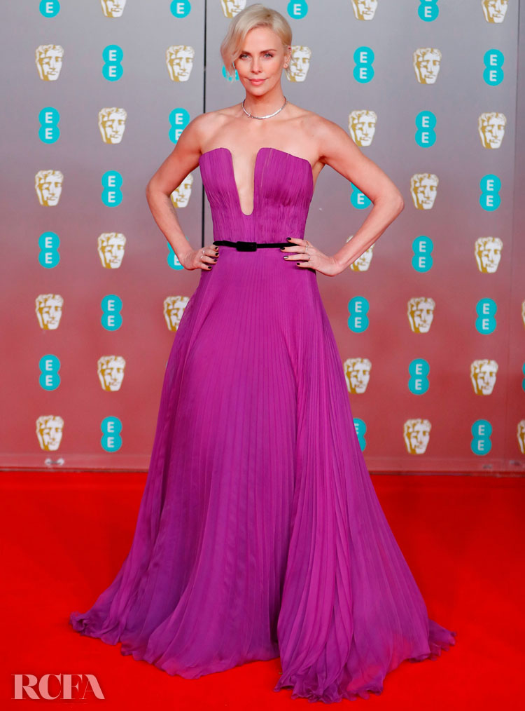 Charlize Theron In Christian Dior Haute Couture - 2020 BAFTAs