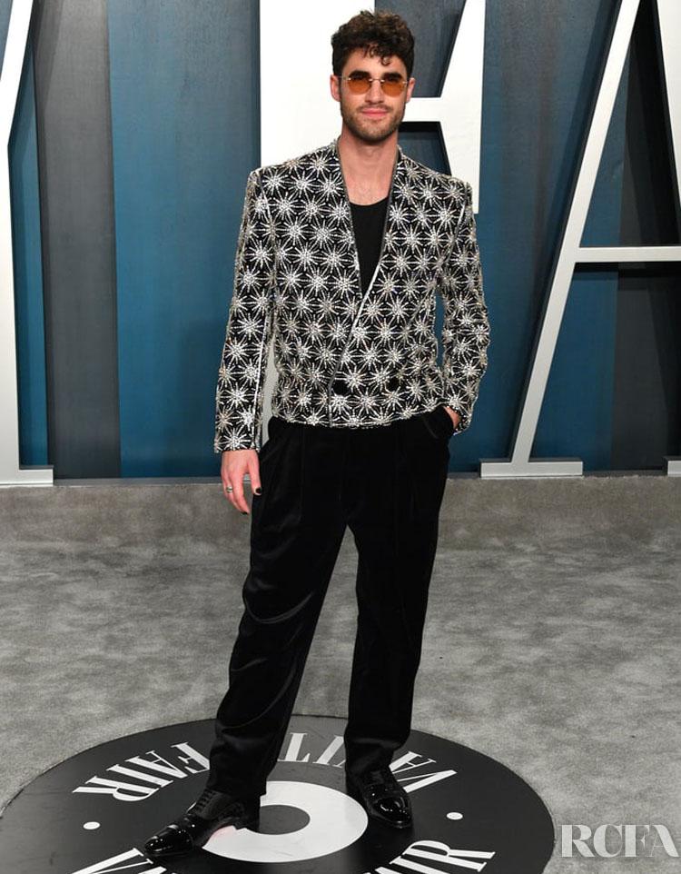 Darren Criss Balmain The 2020 Vanity Fair Oscar Party