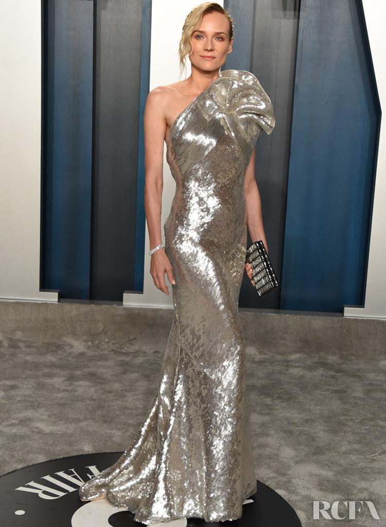 Diane Kruger in Elie Saab @ The 2020 Vanity Fair Oscar Party