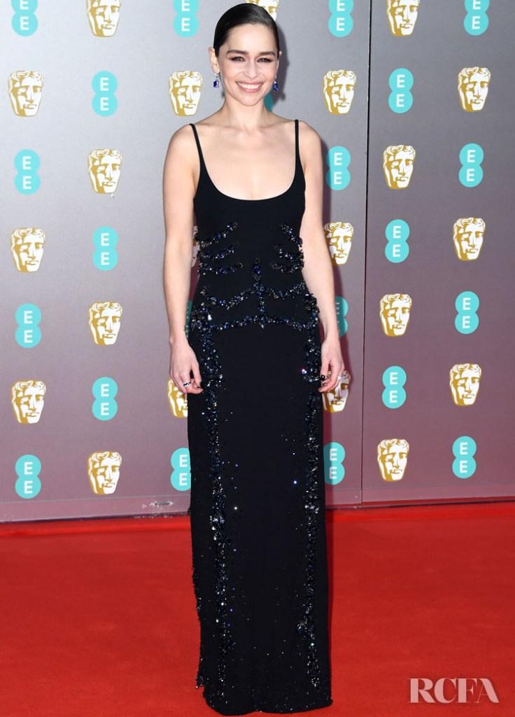 Emilia Clarke In Schiaparelli Haute Couture - 2020 BAFTAs