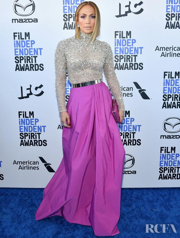 Jennifer Lopez In Valentino - 2020 Film Independent Spirit Awards