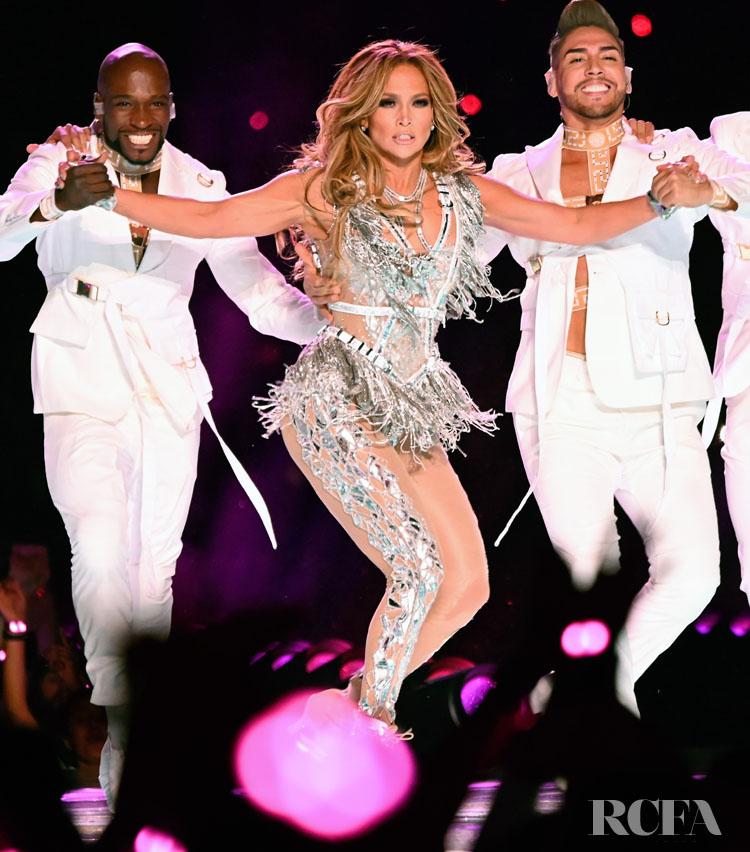 Jennifer Lopez Wore Atelier Versace For Her Super Bowl LIV Performance