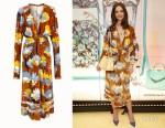 Katie Holmes' Fendi Multi-Colour Print Dress