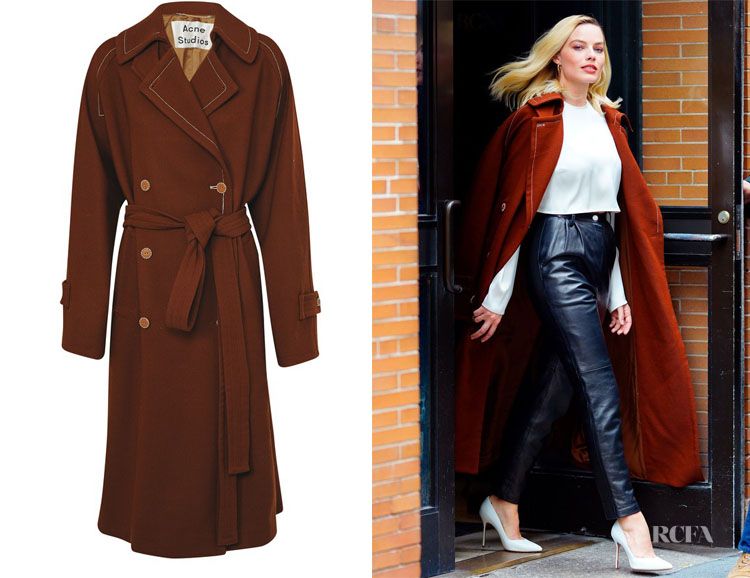 Margot Robbie's Acne Studios Orane Trench Coat