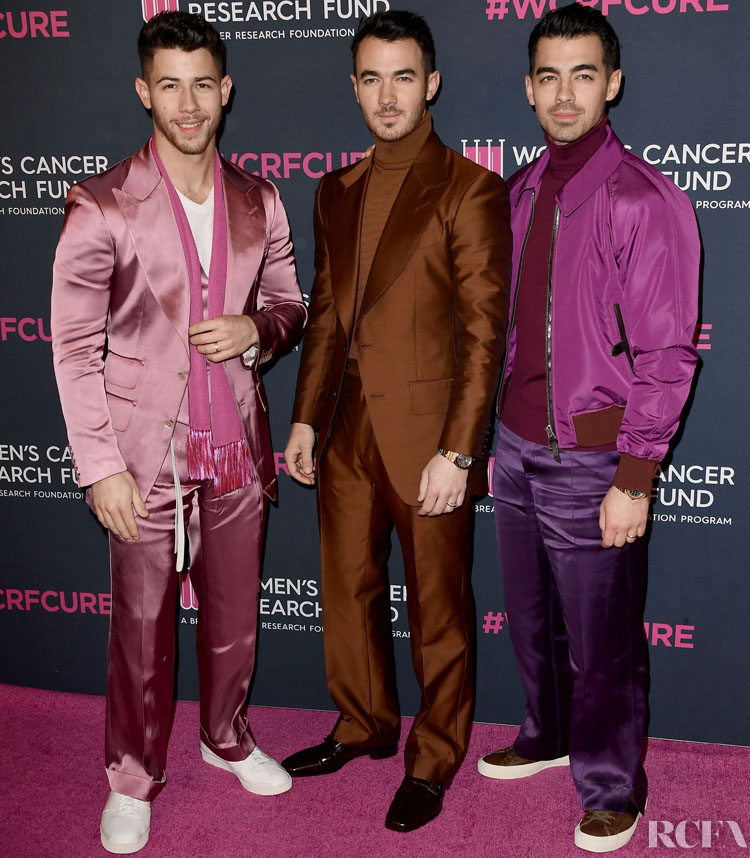 Nick Jonas, Kevin Jonas, & Joe Jonas Wore Tom Ford To The Women's Cancer Research Fund Gala