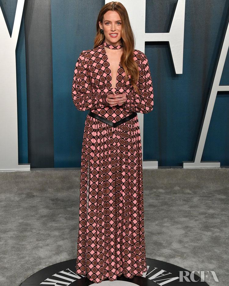 RILEY KEOUGH  Louis Vuitton 2020 Vanity Fair Oscar Party