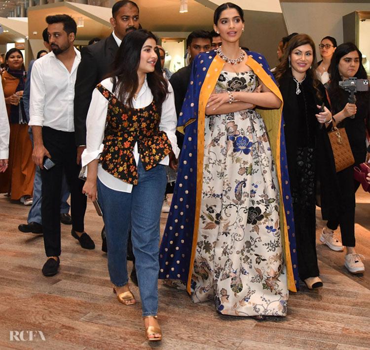 Sonam Kapoor Wore Custom Etro To The DJWE Event
