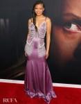 Storm Reid Wore Miu Miu To 'The Invisible Man' LA Premiere