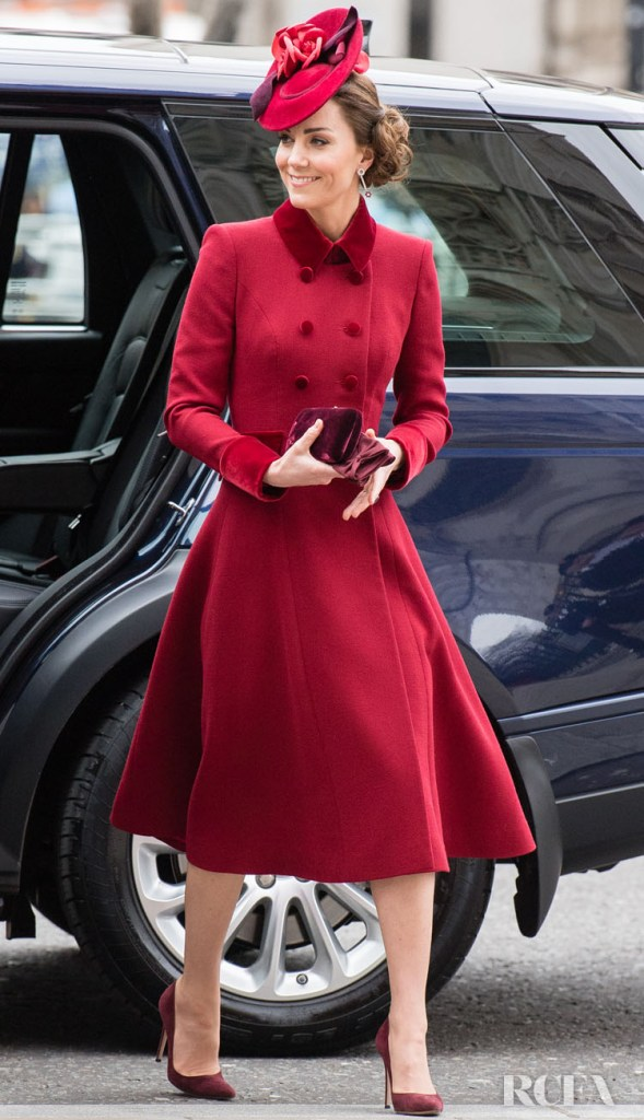 Catherine, Duchess of Cambridge Wore Catherine Walker To The Commonwealth Day Service 2020