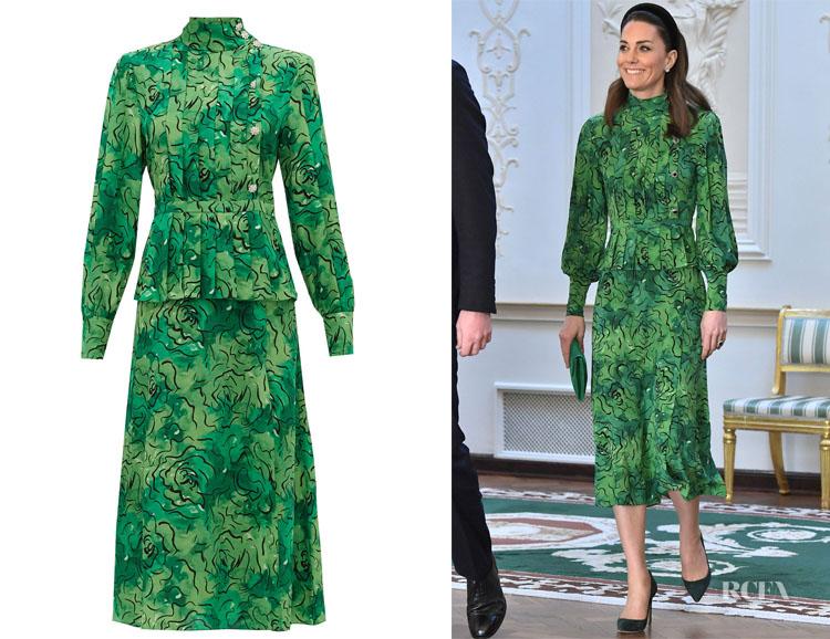 Catherine, Duchess of Cambridge's Alessandra Rich Print Peplum Dress
