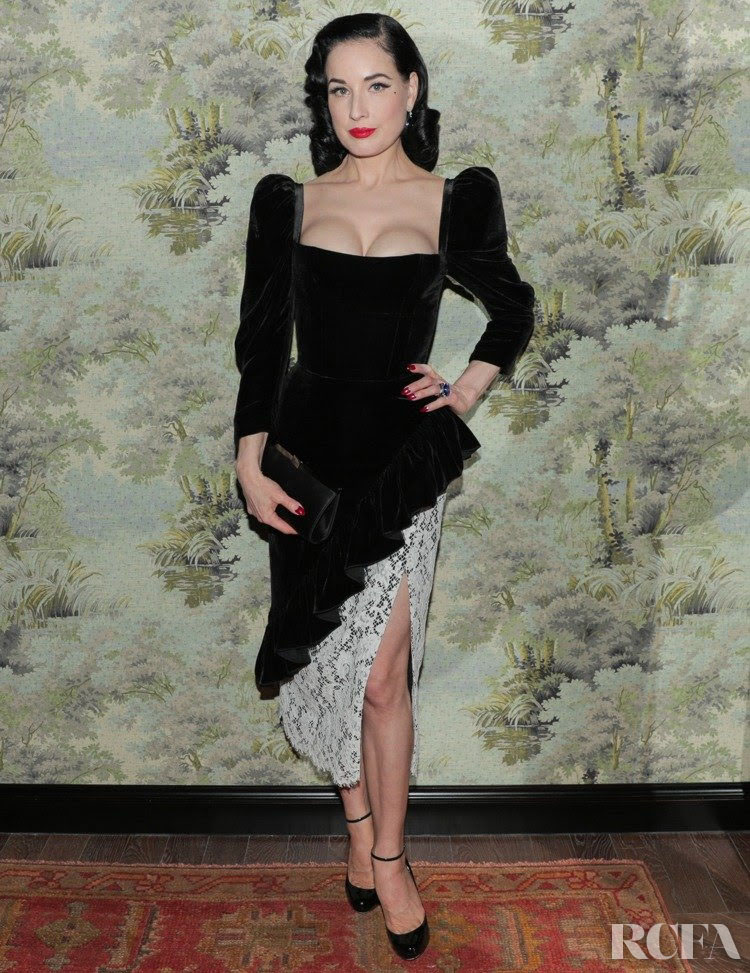 Dita Von Teese Wore Ulyana Sergeenko To The Opening Of Gucci Osteria
