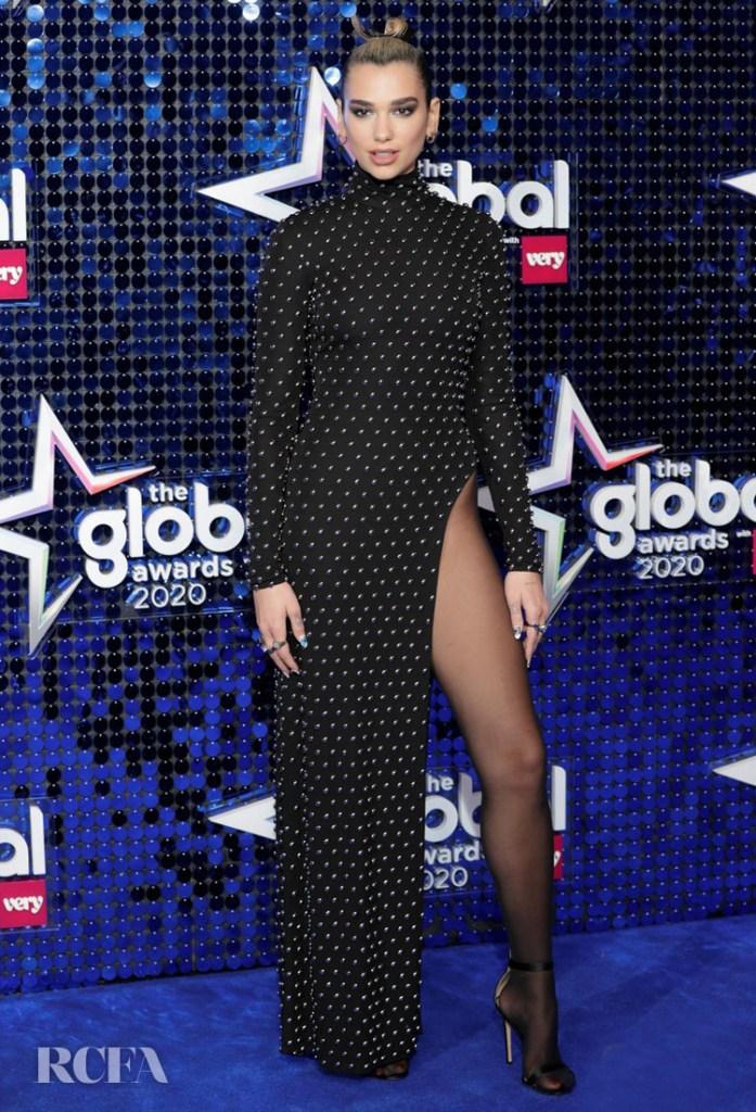 Dua Lipa Wore Mugler To The Global Awards 2020