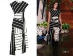 Mandy Moore's Monse Black & White Striped Stretch-Jersey Dress