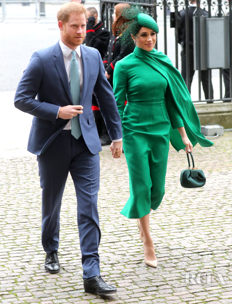 Meghan, Duchess of Sussex Wore Emilia Wickstead To The Commonwealth Day Service 2020