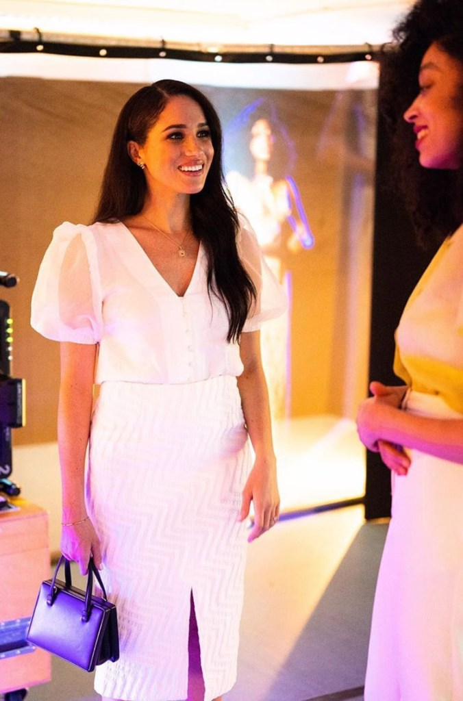 Meghan, Duchess of Sussex Wore Topshop & Roland Mouret To The Immersive Storytelling Studio