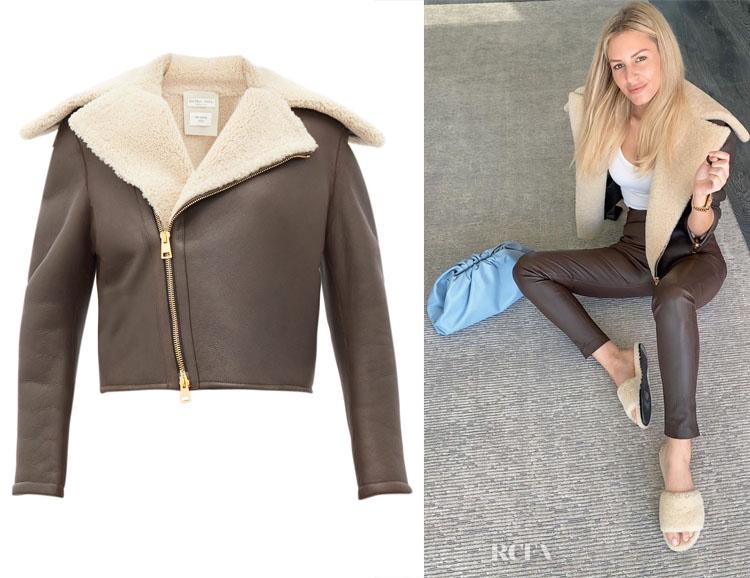Morgan Stewart's Bottega Veneta Shearling & Leather Jacket